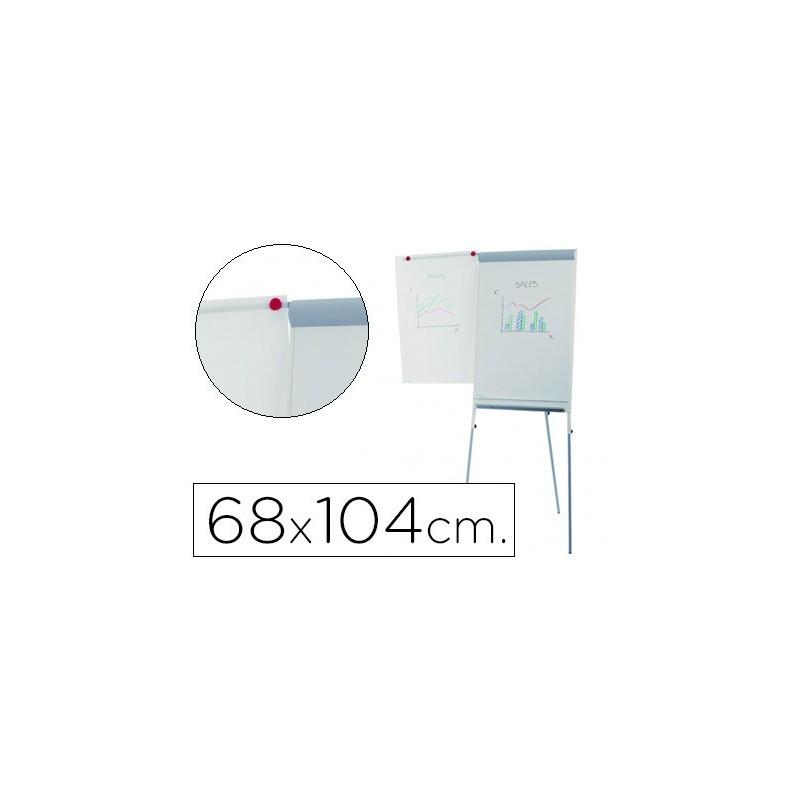 Quadro branco rocada com tripe para conferencias magnetica lacada braco extensivel 68x104 cm altura