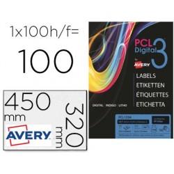 Etiqueta adesiva avery sra3 teslan branco opaco 320x450 mm para impressora digital pack de 100 unidades