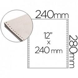 """Papel continuo branco 240 mm x 12\"""" caixa com 2000 folhas"""""""